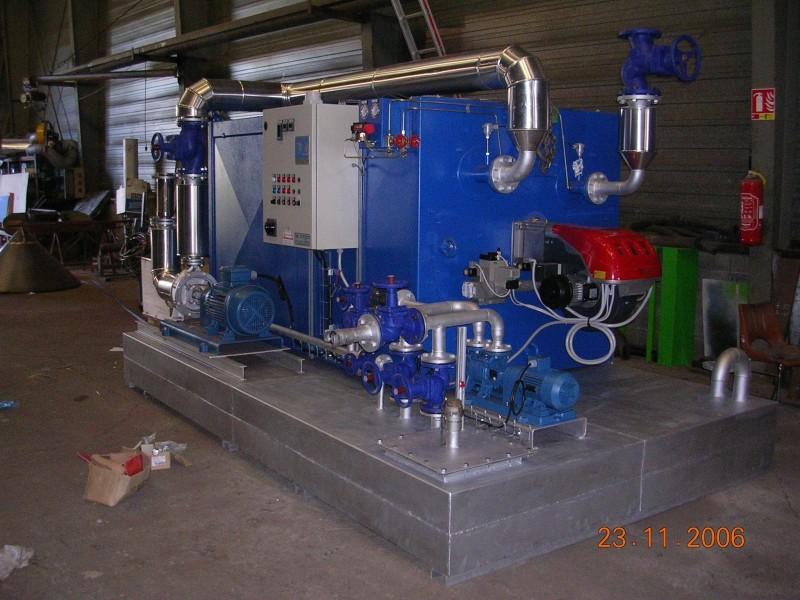 Skid pour une production mobile de vapeur