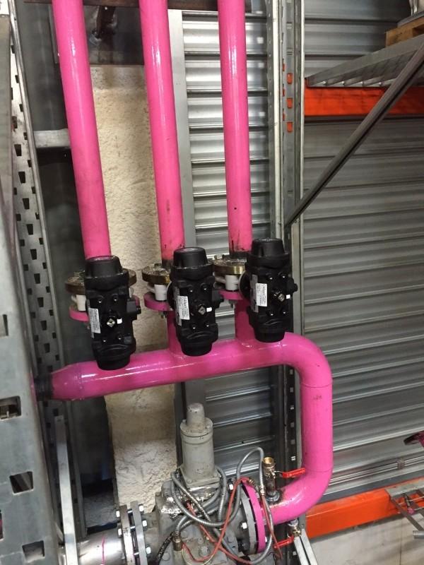 Réseau de tuyauterie de dépotage acier