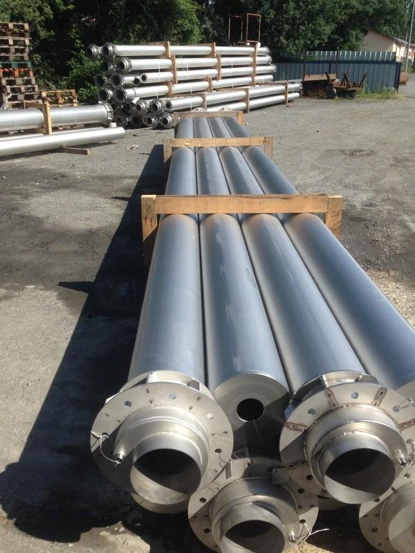 Fabrication d'une série de cheminées inox