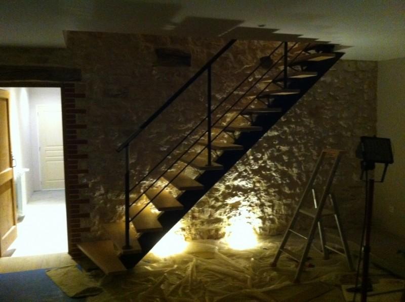 Escalier métallique à limon central 'Gourc-Puech'