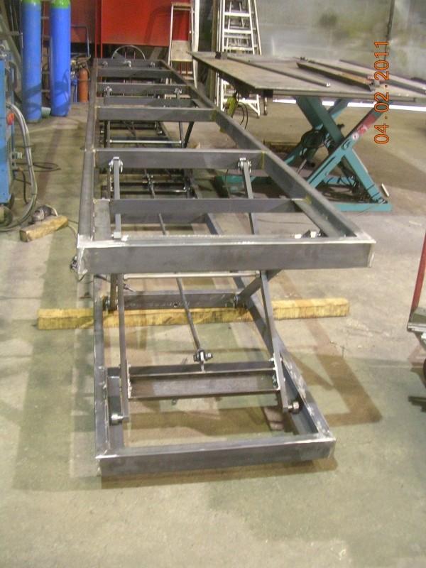 Ensemble de tables pour ligne de production