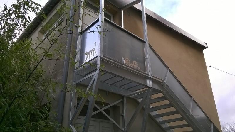 """Escalier métallique extérieur """"Chat"""""""